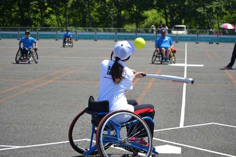 障がい者スポーツ実習写真